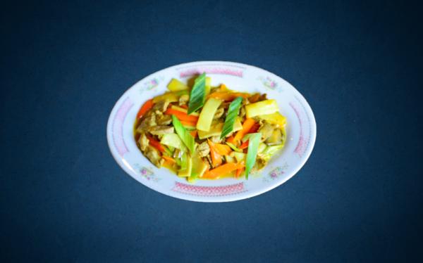 Stegte blandede grøntsager